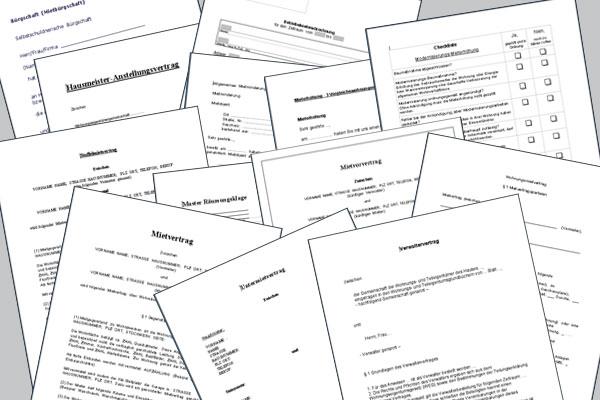 Musterverträge Für Vermieter Rhein Main Invest Investment