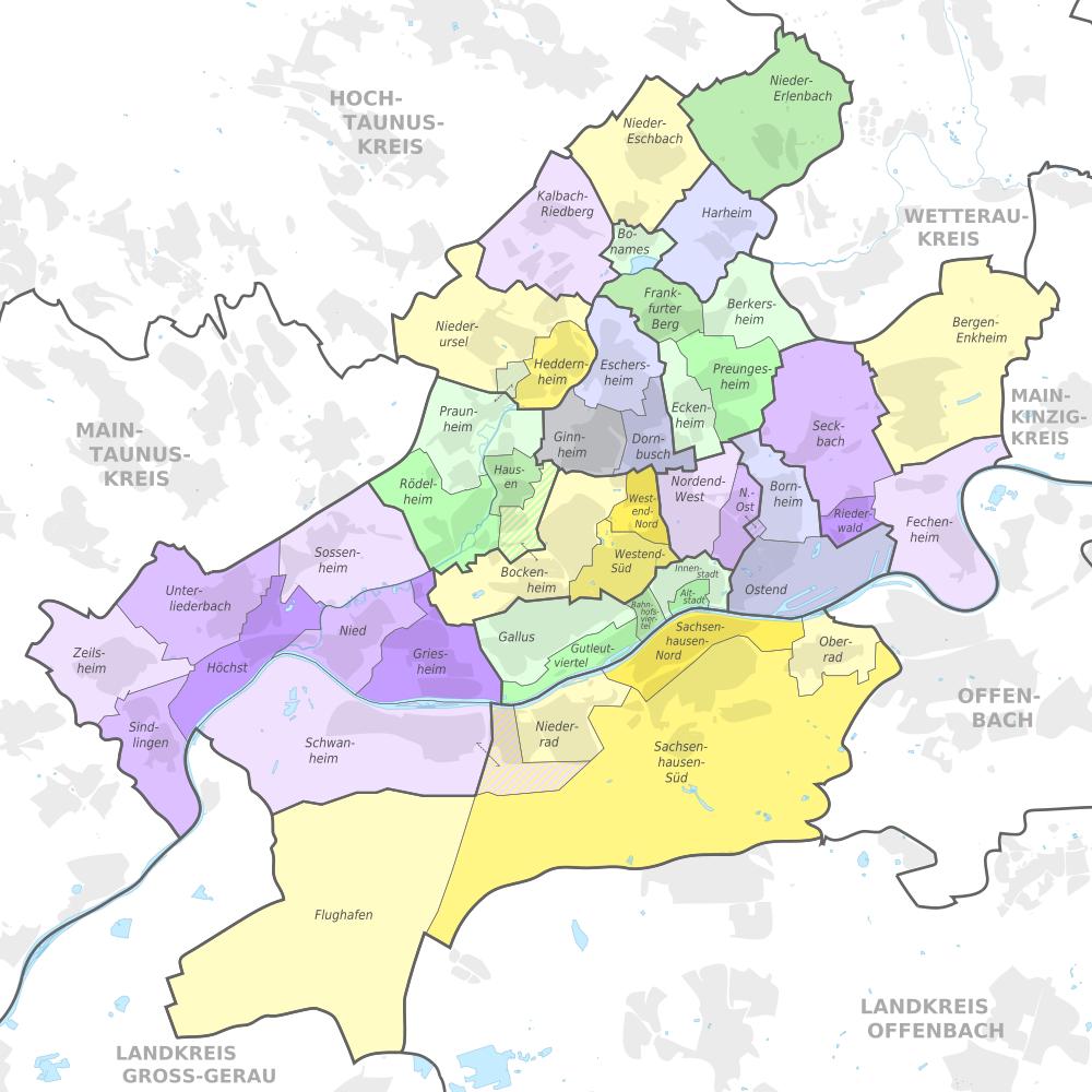 Frankfurt Ortsteile